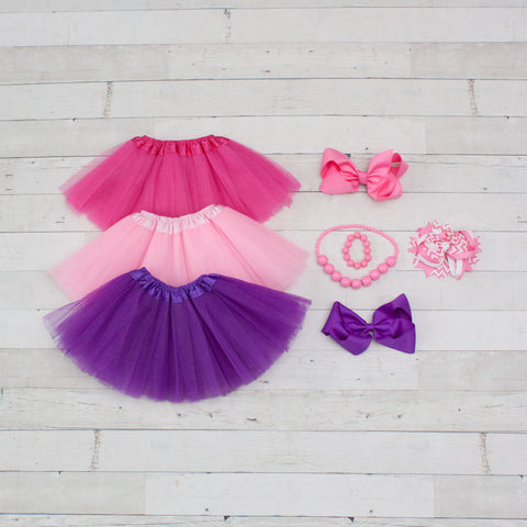 Tutu Accessory Gift Set - Hot Pink, Pink & Purple