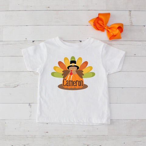 Pilgrim Turkey Personalized Graphic T-Shirt