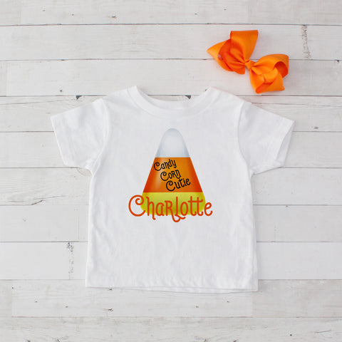 Candy Corn Cutie Personalized Graphic T-Shirt