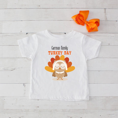Turkey Day Personalized Graphic T-Shirt