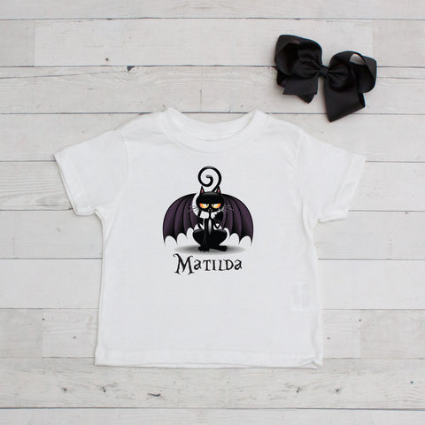 Bat-Cat Personalized Graphic T-Shirt