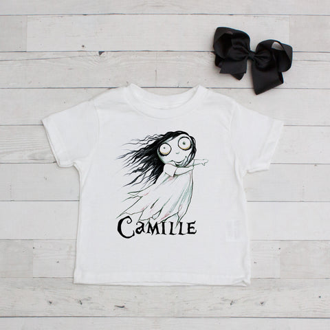 Little Ghost Girl Personalized Graphic T-Shirt