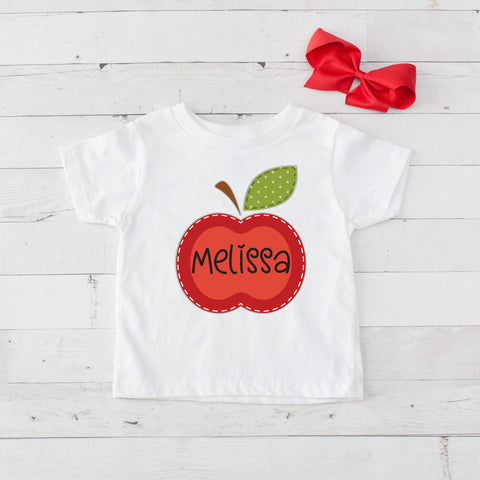 Apple Personalized Graphic T-Shirt