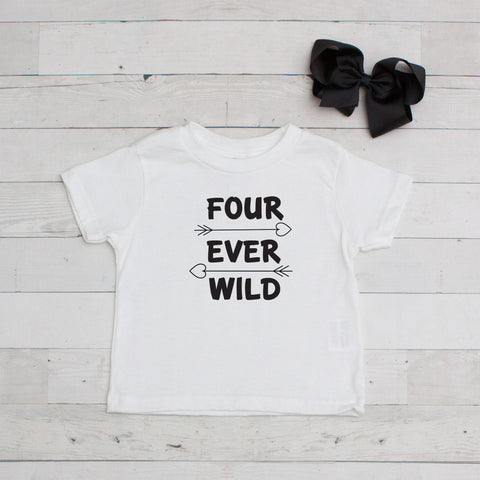 Four Ever Wild - Birthday Graphic T-Shirt Set