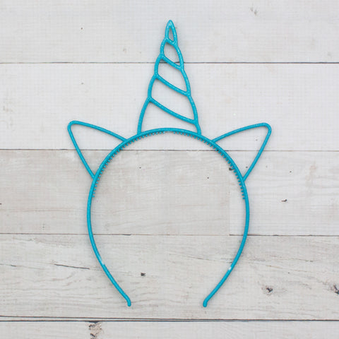 Unicorn Outline Headbands - 7 Colors to Choose from