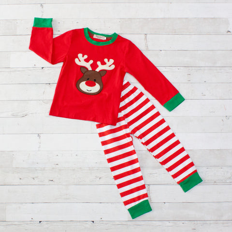 Rudolph Reindeer Pajamas - Top & Pants