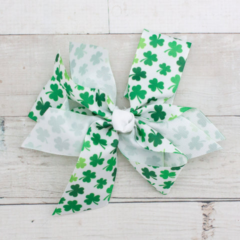 "Lucky Little Clovers Boutique 7"" Grosgrain Bow"