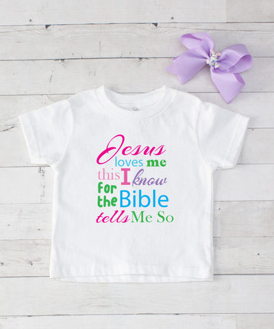 Jesus Loves Me - Graphic T-Shirt & Bow Set