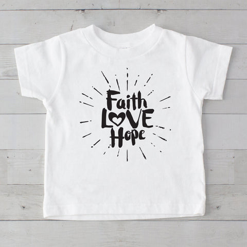 Faith Love Hope Graphic T-Shirt