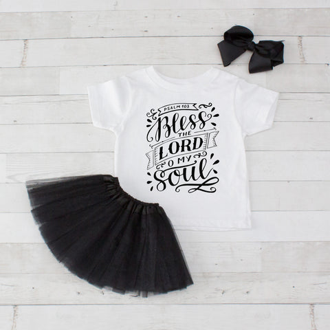 Bless The Lord O My Soul - Graphic T-Shirt & Black Tutu Set