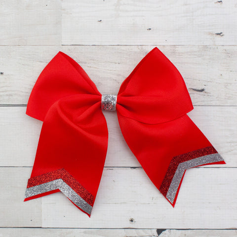 "8"" Cheer Long Tail Big Hair Bow - 4 Colors"