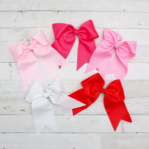 "8"" Long Tail Big Hair Bow - 5 Colors"