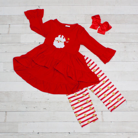 Jolly Old Santa A-Line Tunic Set - Top & Pants