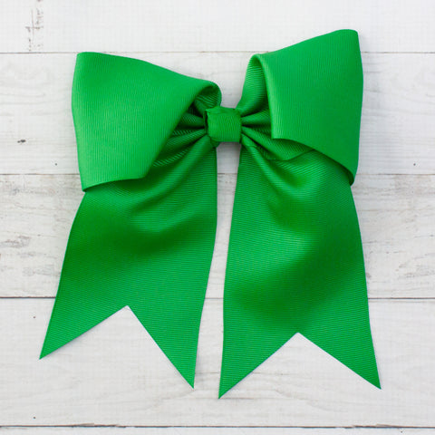 "6"" Green Long Tail Hair Bow"