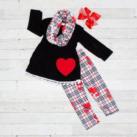 Valentina 3pc A-Line Tunic Set - Top, Pants & Scarf