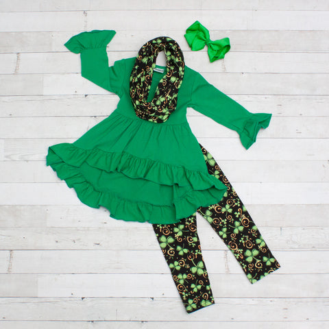 O'Lucky 3pc A-Line Tunic Set - Top, Pants & Scarf