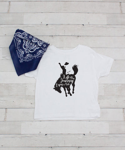 Life is a Journey Enjoy The Ride - Graphic T-Shirt & Bandanna Set