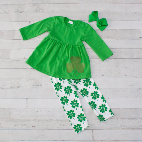 Luck of the Irish 2pc A-Line Tunic Set - Top & Pants