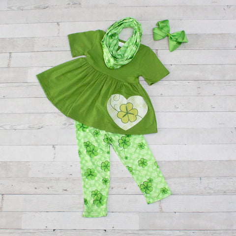 Irish Blessings 3pc A-Line Tunic Set - Top, Pants & Scarf