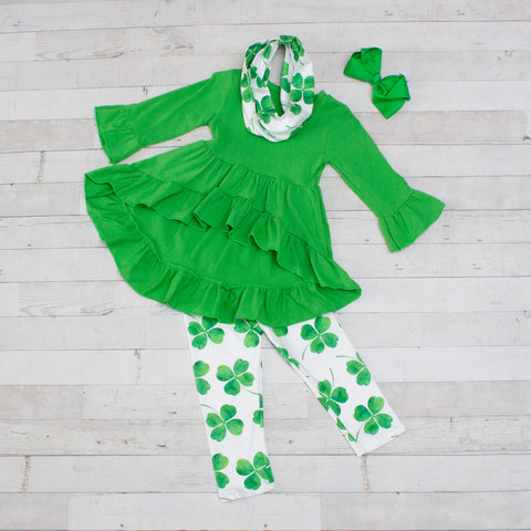 Little Bit of Irish 3pc A-Line Tunic Set - Top, Pants & Scarf