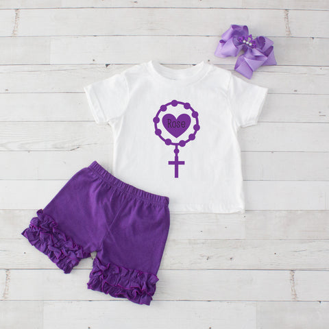 Holy Rosary - 3pc Shirt and Short Set