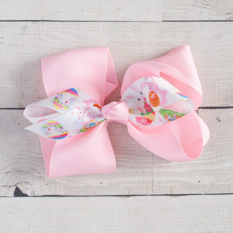 "6"" Easter Grosgrain Double Bow - 7 Pastel Colors"