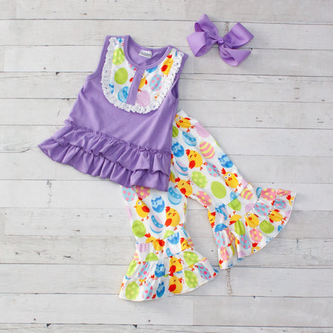 Easter Parade Sleeveless Easter Outfit - Top & Capris