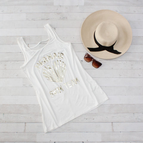 Mermaid Swim Team Beach Cover Up Tank