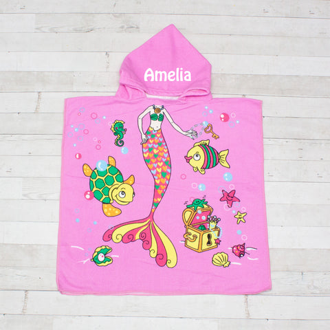 Mermaid Beach Towel Poncho