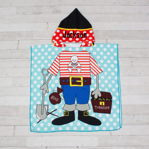 Pirate Beach Towel Poncho