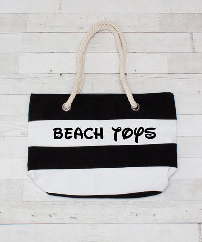 Personalized Canvas Beach Bags - 4 Colors