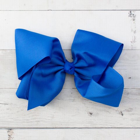 "8"" Royal Blue Grosgrain Hair Bow"