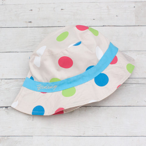 Khaki Polka Dotted Bucket Hat