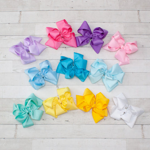 "8"" Windmill Grosgrain Hair Bow - 12 Colors"