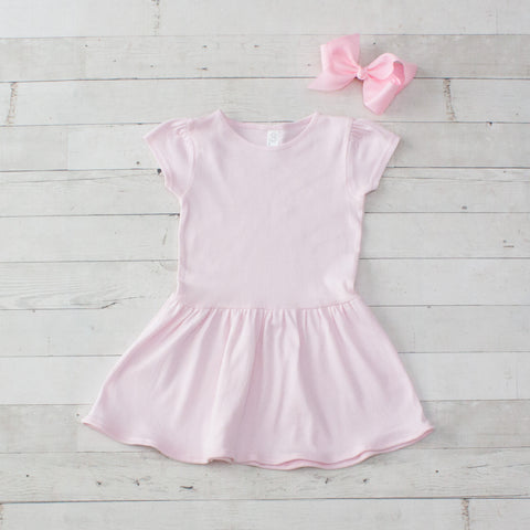 Girls Personalized Light Pink Jersey Dress
