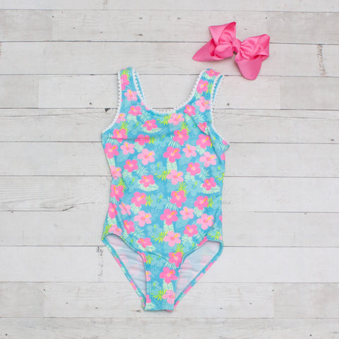Pastel Floral One Piece Swimsuit