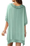 Crochet Trim Beach Cover Up Dress - 3 Colors