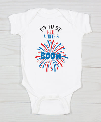 My First Red White & BOOM Bodysuit