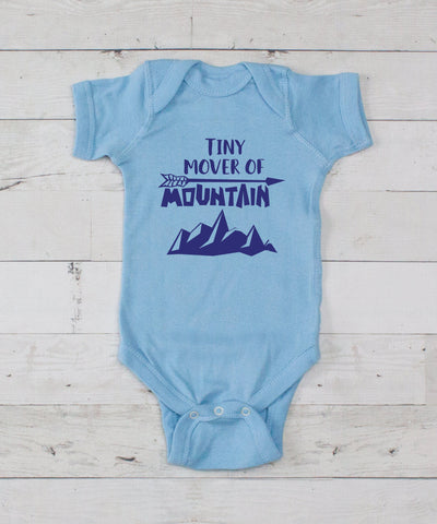 Tiny Mover Of Mountains Bodysuit - Light Blue