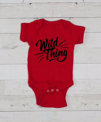 Wild Thing Bodysuit - Red