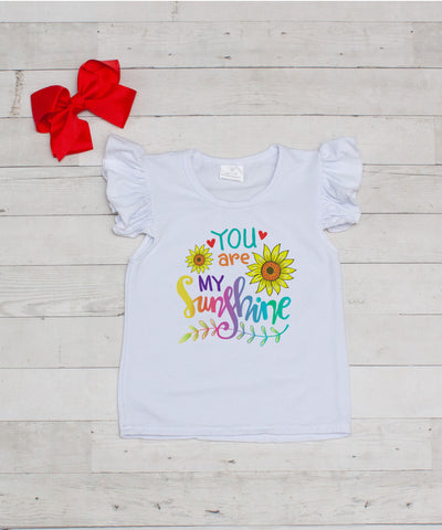 You Are My Sunshine - Graphic T-Shirt & Bow Set