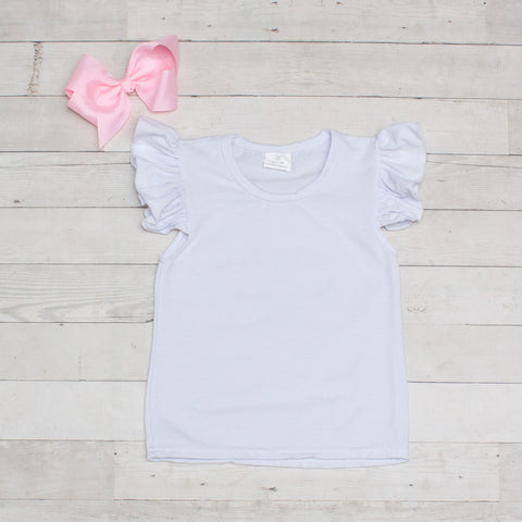 White Butterfly Sleeve T-Shirts