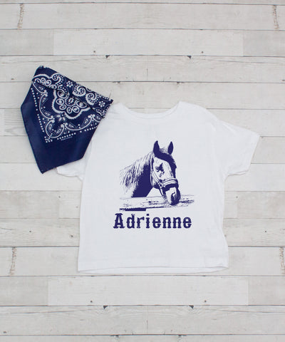Horse - Personalized Graphic T-Shirt & Bandanna Set