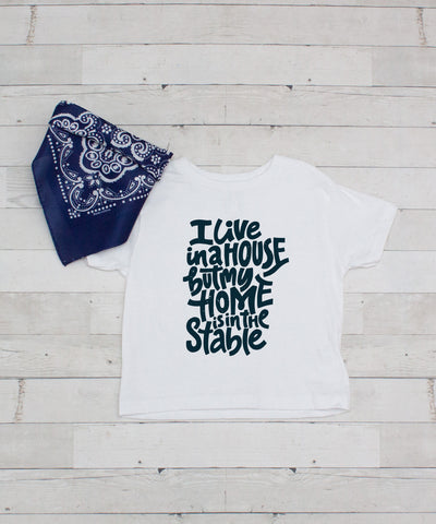 I live in a House but my Home is in the Stable - Graphic T-Shirt & Bandanna Set