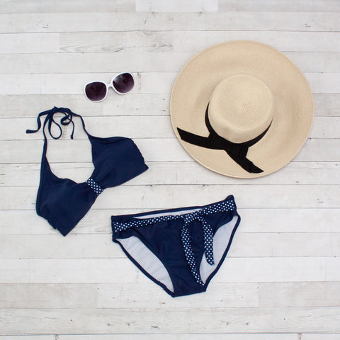 Navy with Polka Dots Bikini