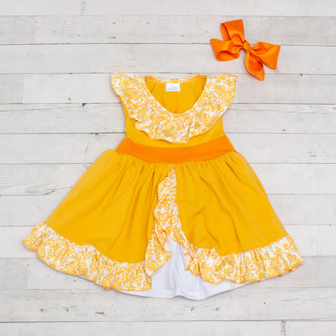 Girls Character Inspired Dress - Yellow Elena Of Avalor