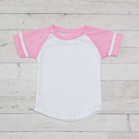 Short Sleeve Raglan T-Shirt - Pink