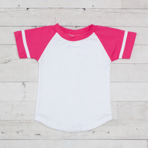 Short Sleeve Raglan T-Shirt - Bubblegum Pink