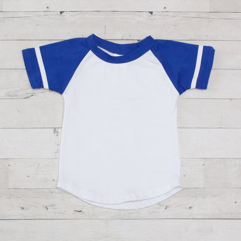 Short Sleeve Raglan T-Shirt - Royal Blue