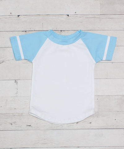 Short Sleeve Raglan T-Shirt - Light Blue